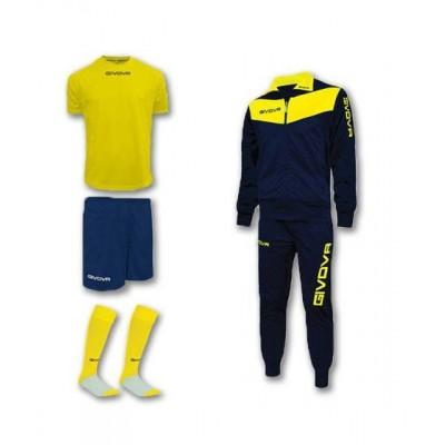 Спортен комплект Box Visa Yellow, Givova - 4 ч.
